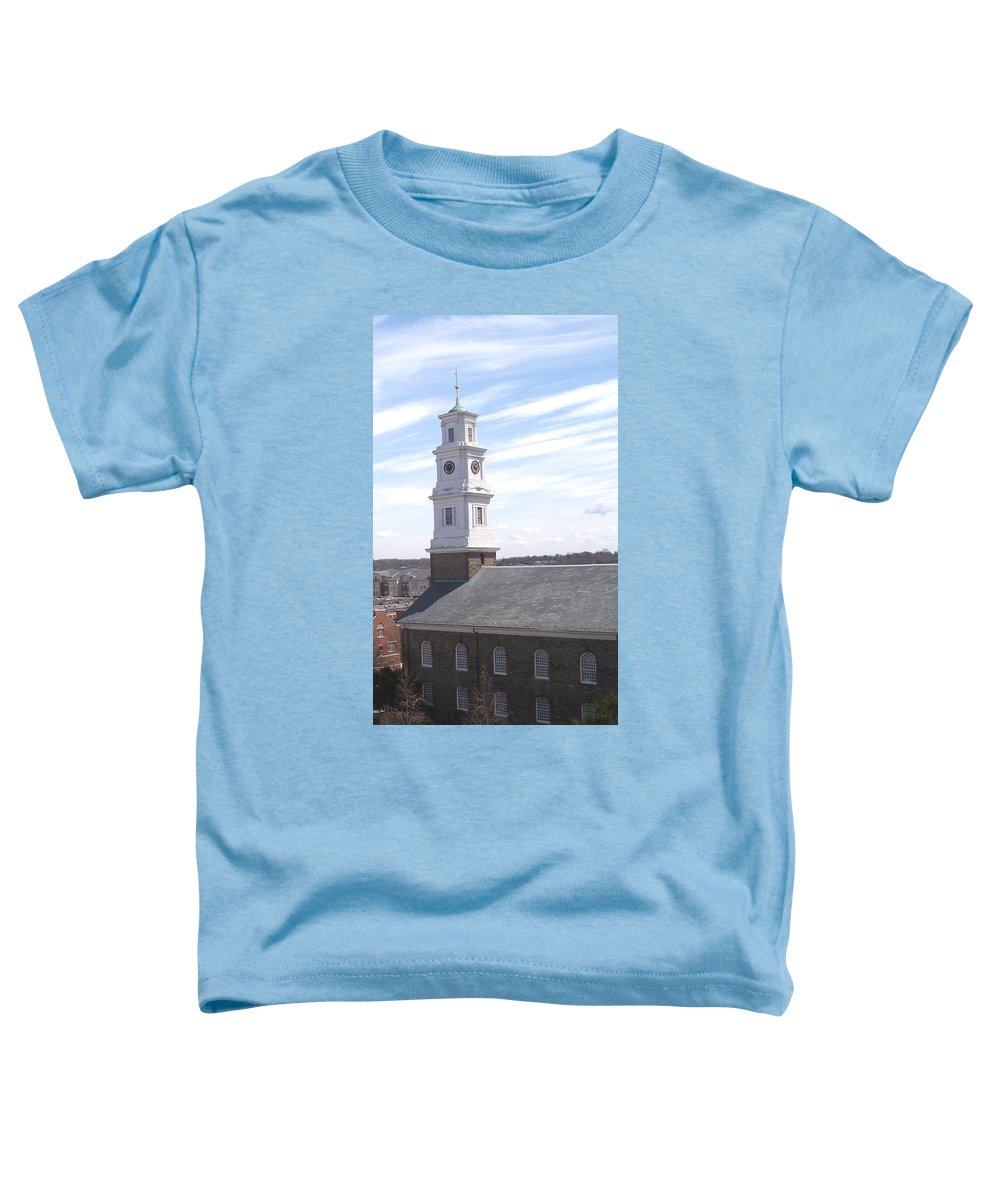 Architecture Toddler T-Shirt featuring the photograph Into The Blue by Pharris Art