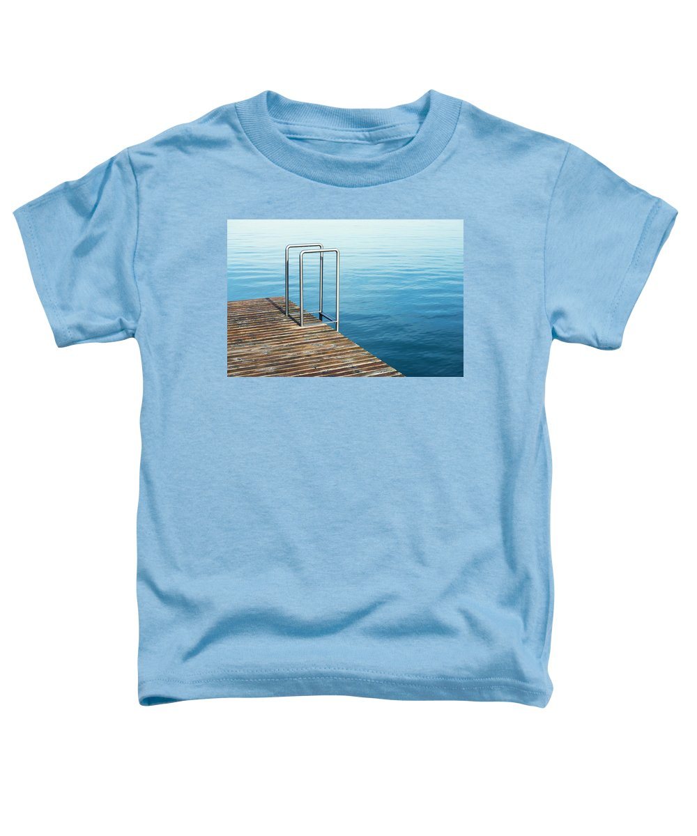 Water Toddler T-Shirt featuring the photograph Ladder by Chevy Fleet