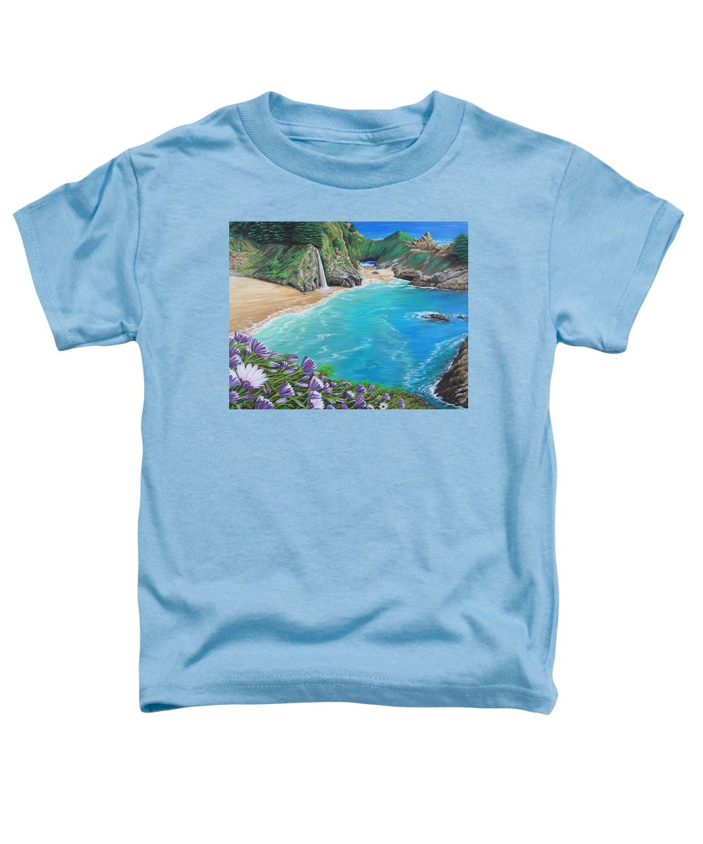 Beach Toddler T-Shirt featuring the painting Mcway Falls by Jane Girardot