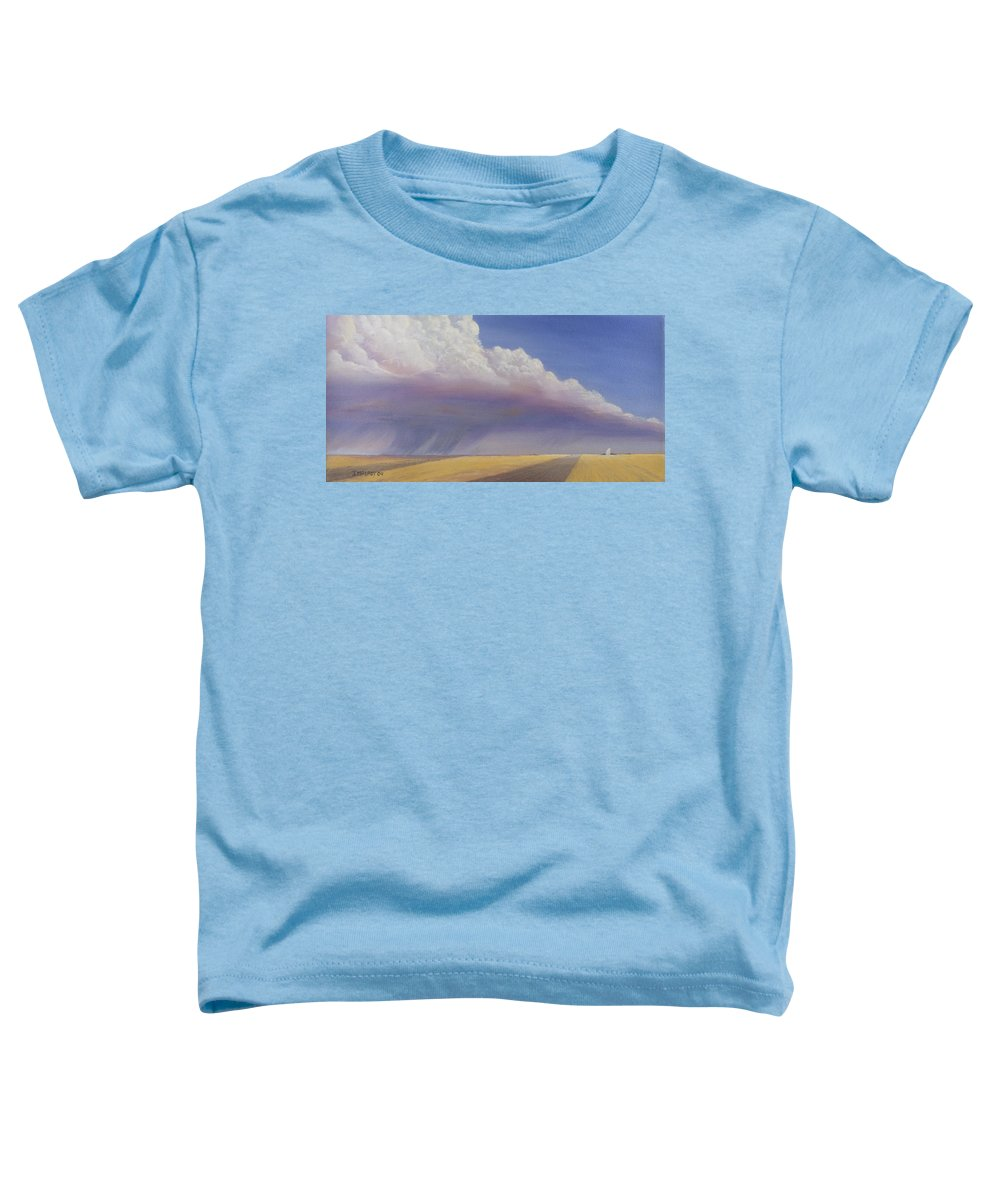 Landscape Toddler T-Shirt featuring the painting Nebraska Vista by Jerry McElroy