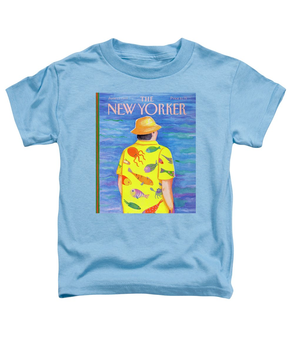 Man Toddler T-Shirt featuring the painting New Yorker June 13th, 1988 by Pamela Paparone
