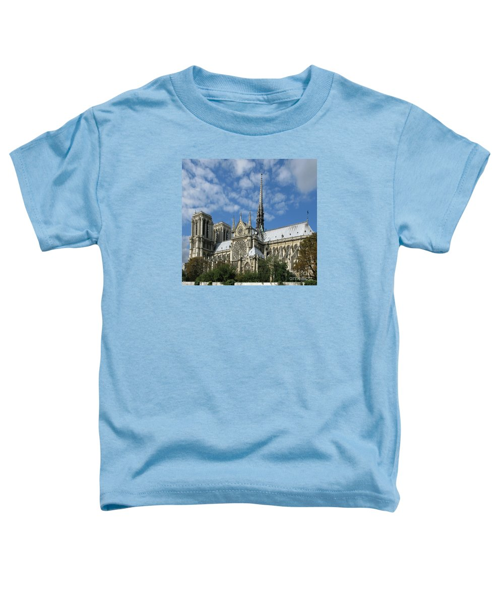 Notre Dame Toddler T-Shirt featuring the photograph Notre Dame Cathedral by Ann Horn