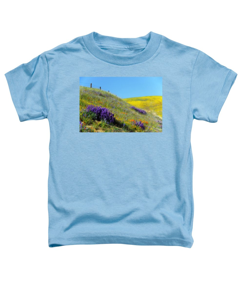 Wildflower Toddler T-Shirt featuring the digital art Painted With Wildflowers by Lynn Bauer