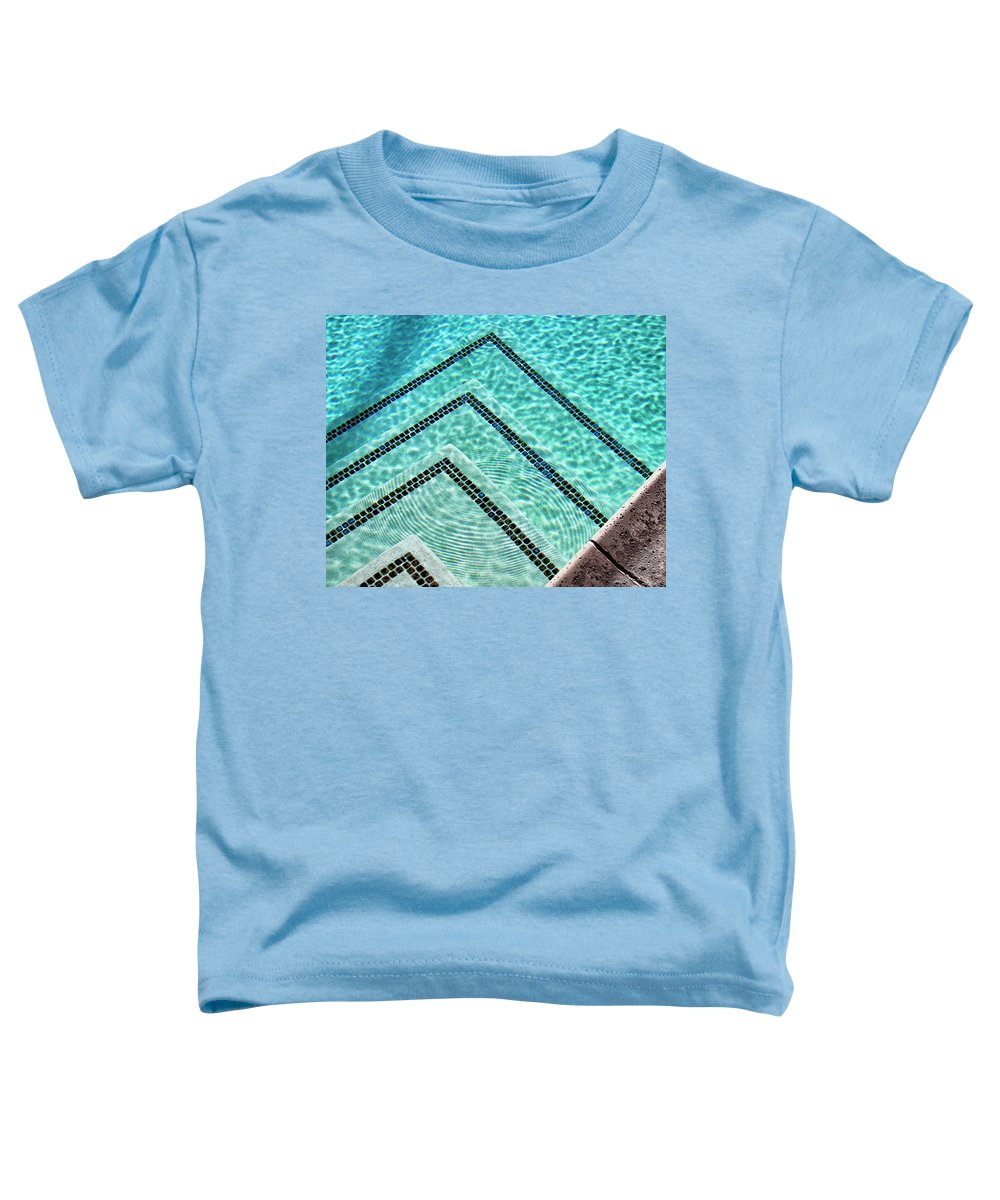 Pool Toddler T-Shirt featuring the photograph Ripple Effect Palm Springs by William Dey