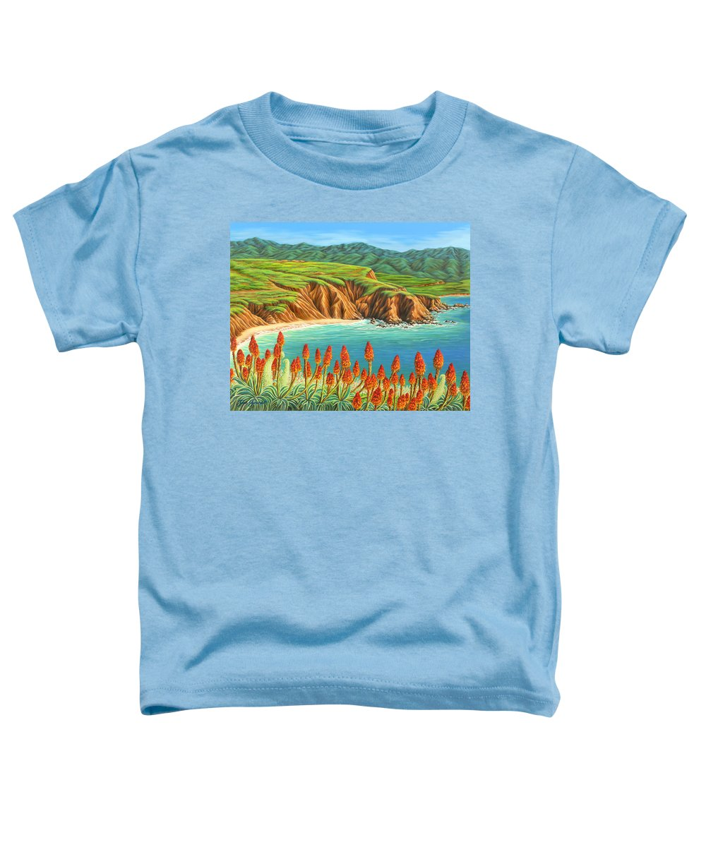 Ocean Toddler T-Shirt featuring the painting San Mateo Springtime by Jane Girardot