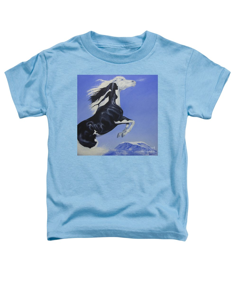 Paint Toddler T-Shirt featuring the painting The Goddess Within by Louise Green