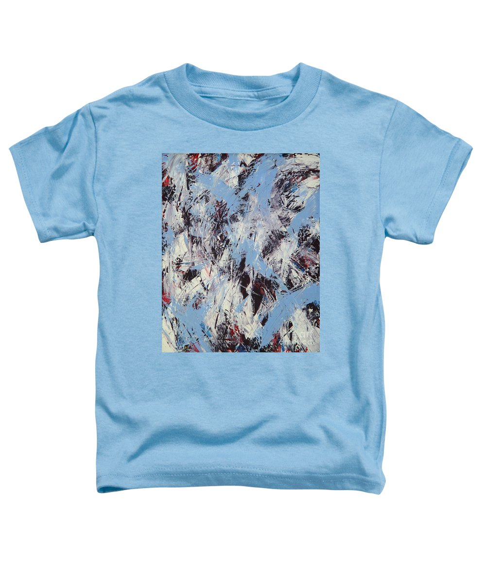 Abstract Toddler T-Shirt featuring the painting Winter by Dean Triolo