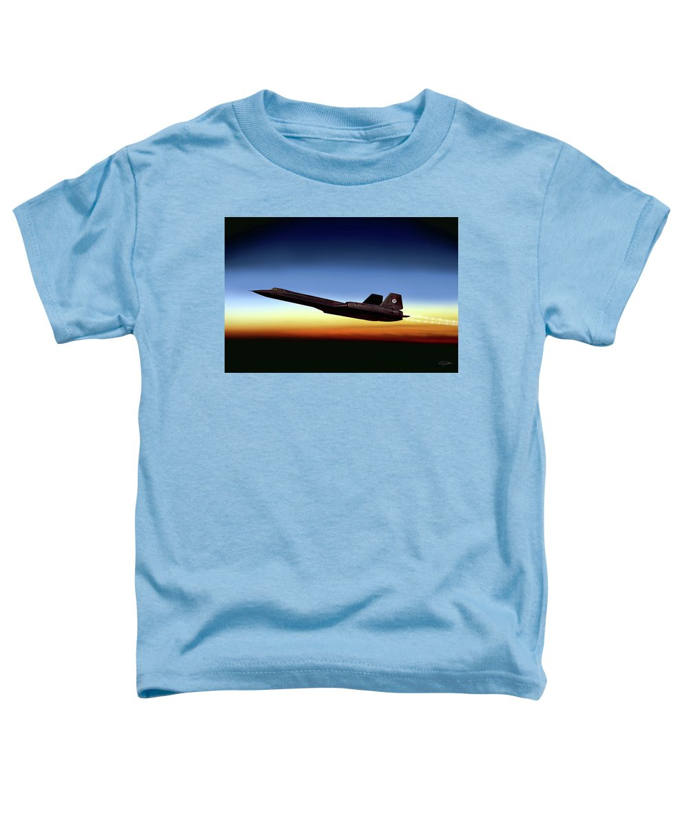Aviation Toddler T-Shirt featuring the digital art Black Diamond by Peter Chilelli
