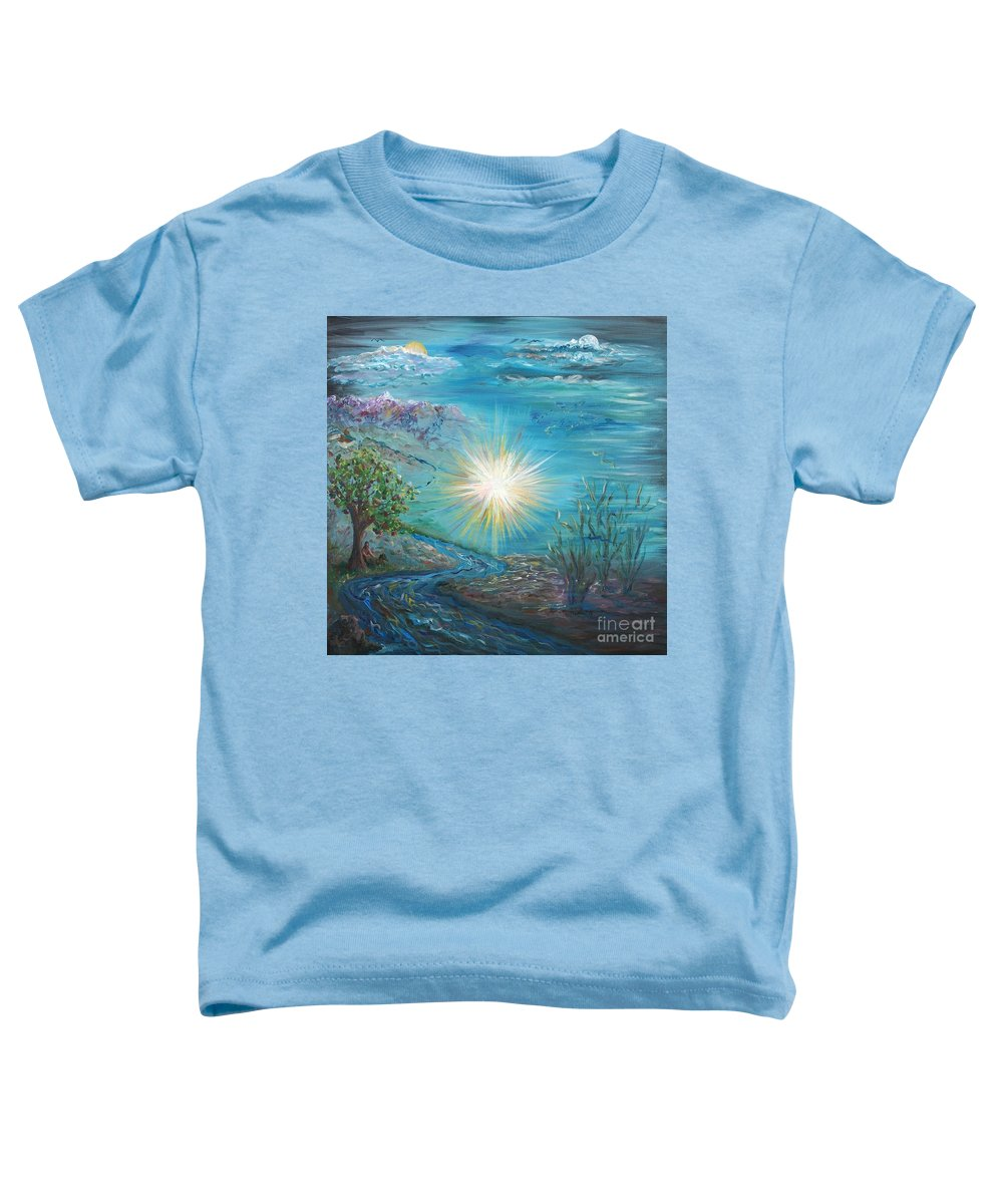 Creation Toddler T-Shirt featuring the painting Creation by Nadine Rippelmeyer