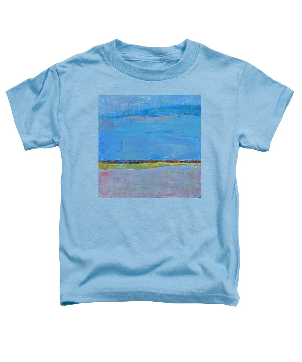 Toddler T-Shirt featuring the painting Abstract Landscape1 by Habib Ayat