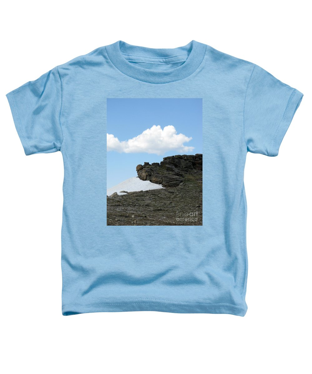 Rocky Mountains Toddler T-Shirt featuring the photograph Alpine Tundra - Up In The Clouds by Amanda Barcon
