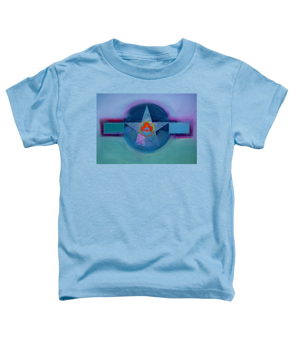 Star Toddler T-Shirt featuring the painting American Spiritual by Charles Stuart
