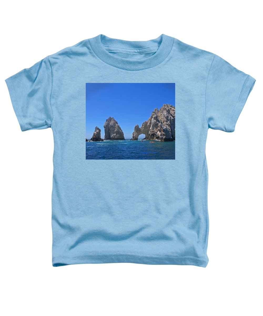 Mexico Toddler T-Shirt featuring the photograph Arch At Cabo San Lucas by Heather Coen