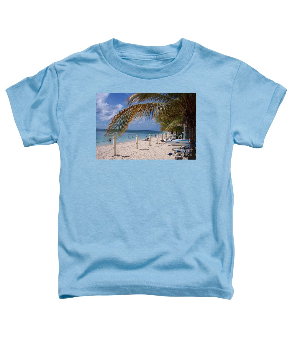 Beach Toddler T-Shirt featuring the photograph Beach Grand Turk by Debbi Granruth