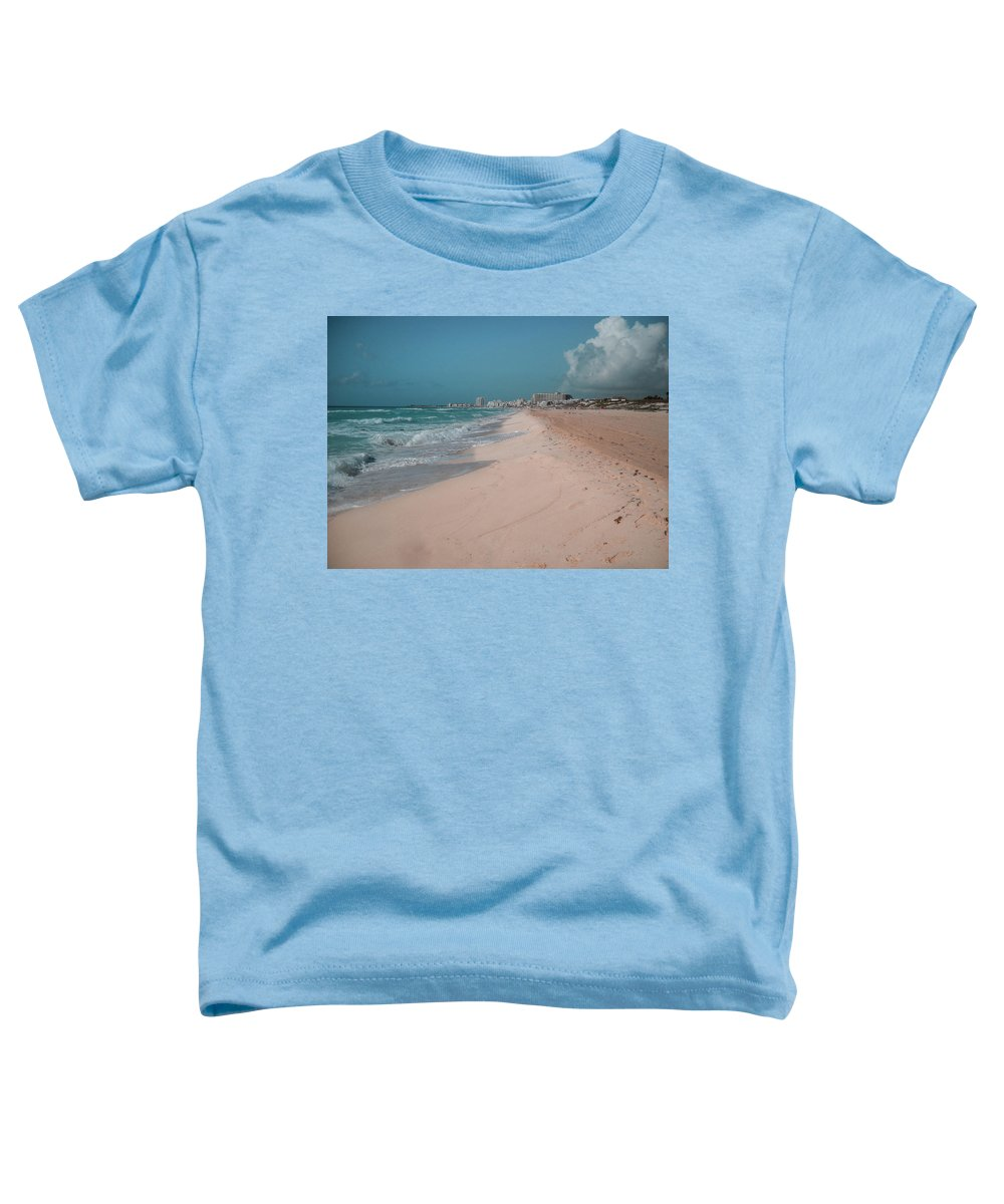 Beach Toddler T-Shirt featuring the digital art Beautiful Beach In Cancun, Mexico by Nicolas Gabriel Gonzalez