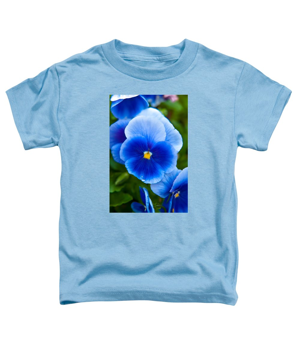 Spring Flowers Toddler T-Shirt featuring the photograph Beautiful Blues by Az Jackson