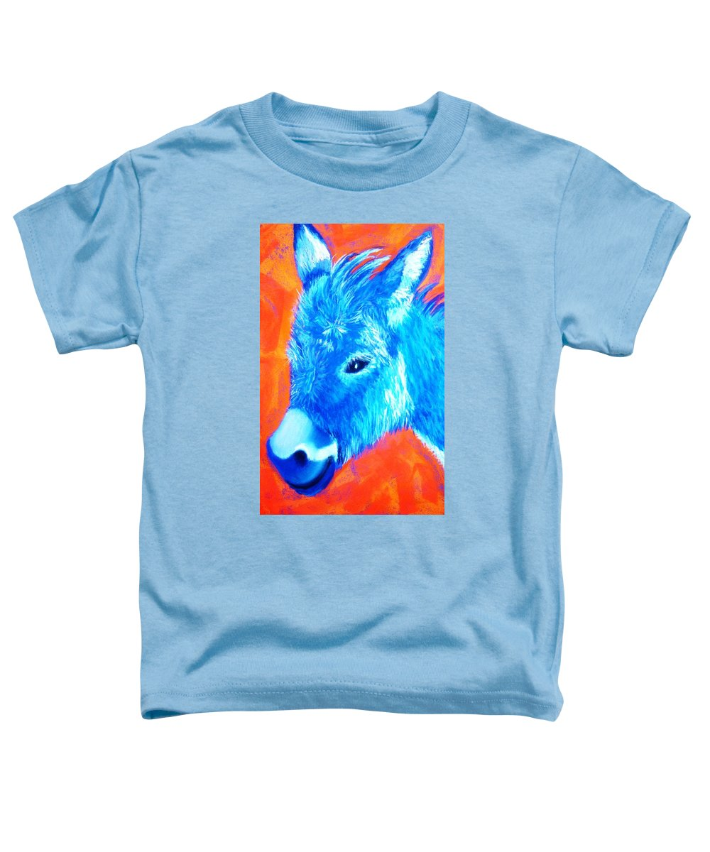 Burro Toddler T-Shirt featuring the painting Blue Burrito by Melinda Etzold