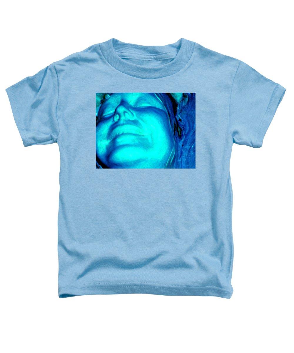 Blue Toddler T-Shirt featuring the photograph Blue Goddess by Wayne Potrafka