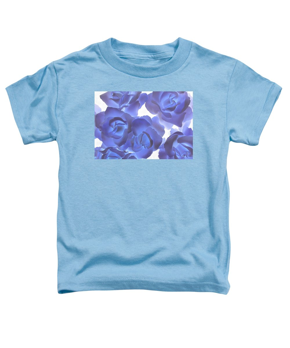 Blue Toddler T-Shirt featuring the photograph Blue Roses by Tom Reynen