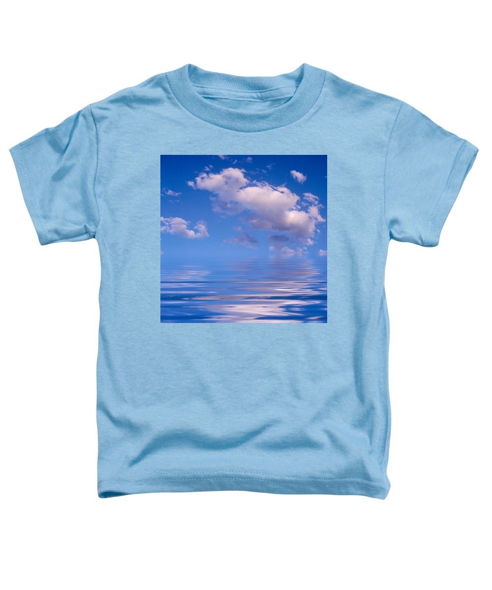 Original Art Toddler T-Shirt featuring the photograph Blue Sky Reflections by Jerry McElroy