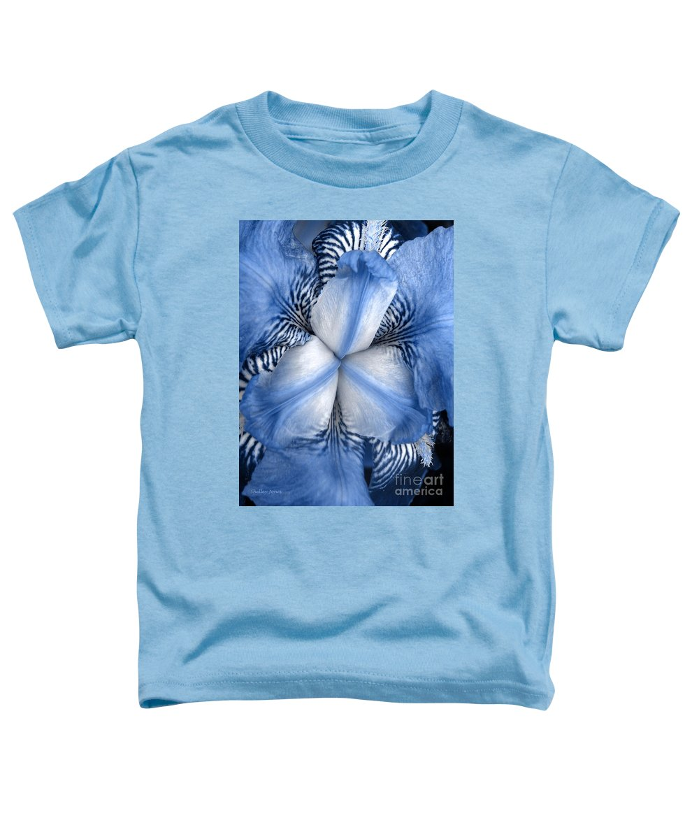 Jphotography Toddler T-Shirt featuring the photograph Blue Tiger Iris by Shelley Jones