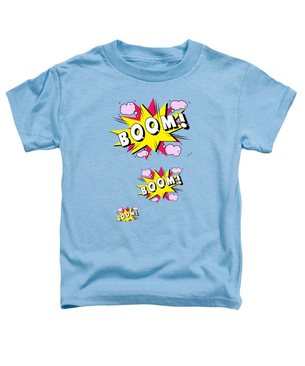 Comix Toddler T-Shirt featuring the digital art Boom Comics by Mark Ashkenazi