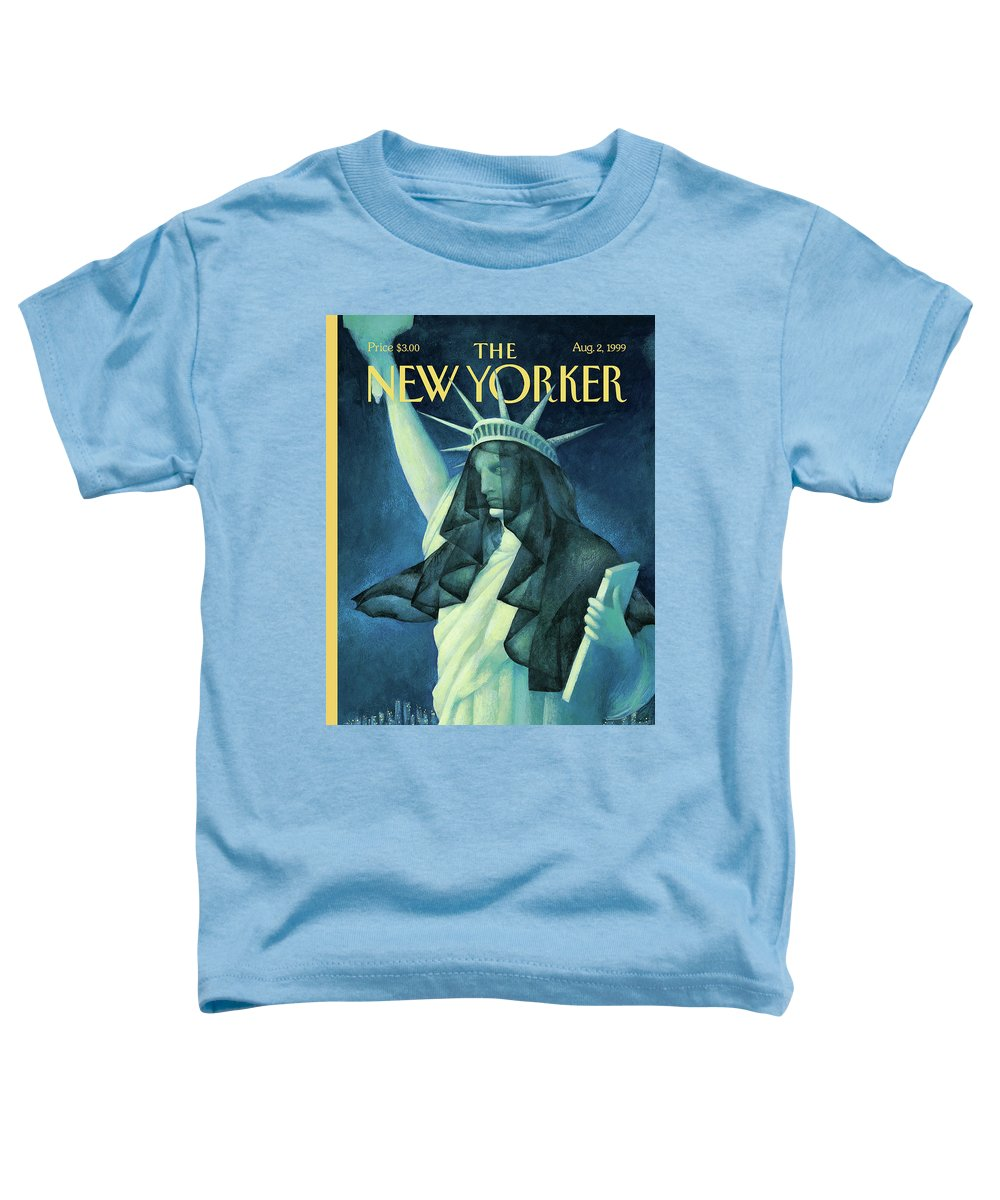 City In Mourning Toddler T-Shirt featuring the painting City In Mourning by Ana Juan