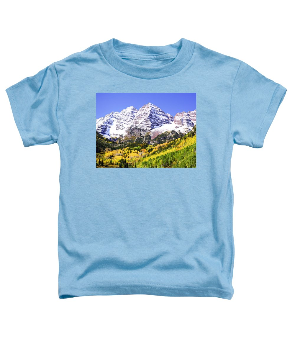 Americana Toddler T-Shirt featuring the photograph Classic Maroon Bells by Marilyn Hunt