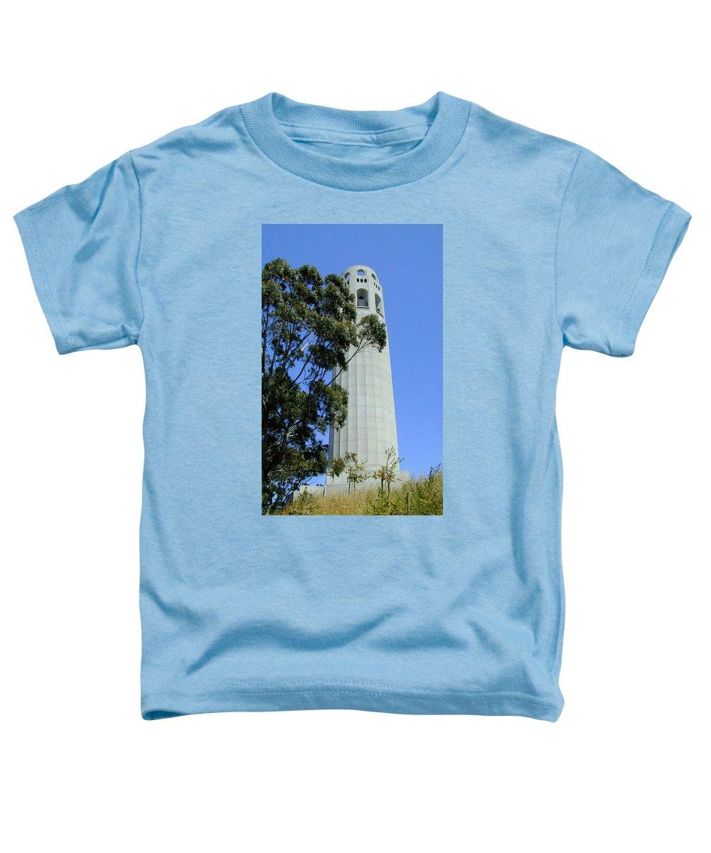 Coit Toddler T-Shirt featuring the photograph Coit Tower by Douglas Barnett