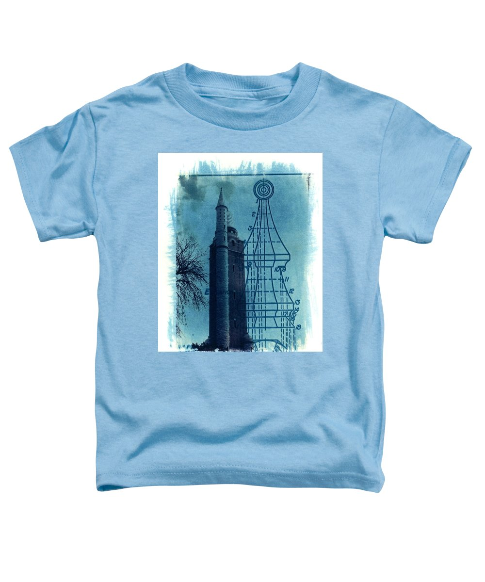 Alternative Process Photography Toddler T-Shirt featuring the photograph Compton Blueprint by Jane Linders