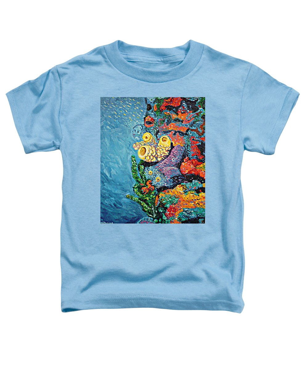 Coral Toddler T-Shirt featuring the painting Coral With Cucumber by Ericka Herazo