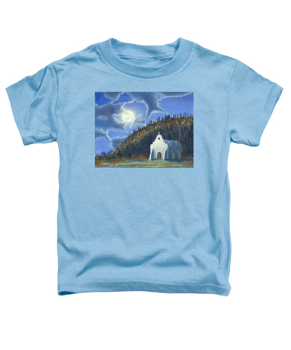 Landscape Toddler T-Shirt featuring the painting Dancing In The Moonlight by Jerry McElroy