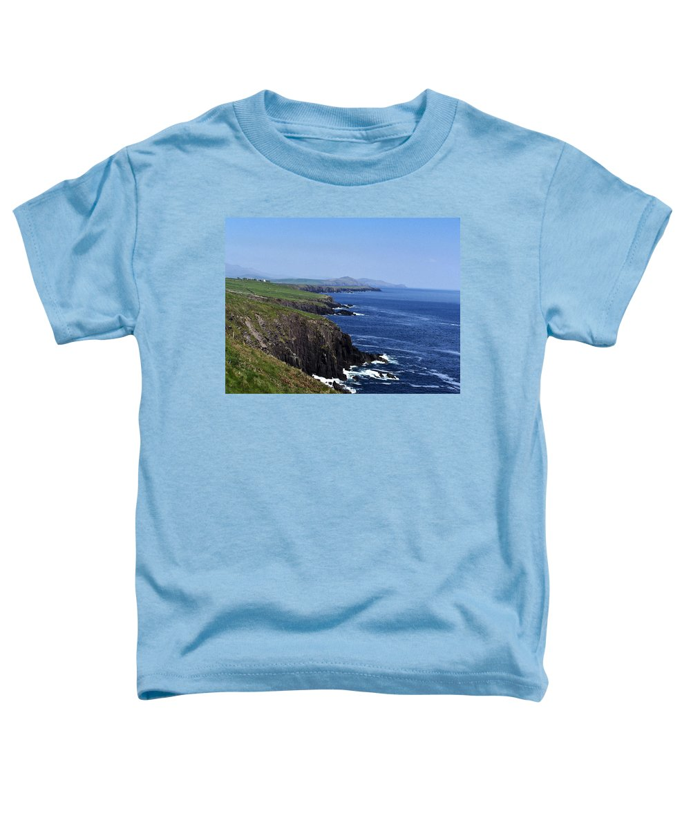 Irish Toddler T-Shirt featuring the photograph Dingle Coast Near Fahan Ireland by Teresa Mucha