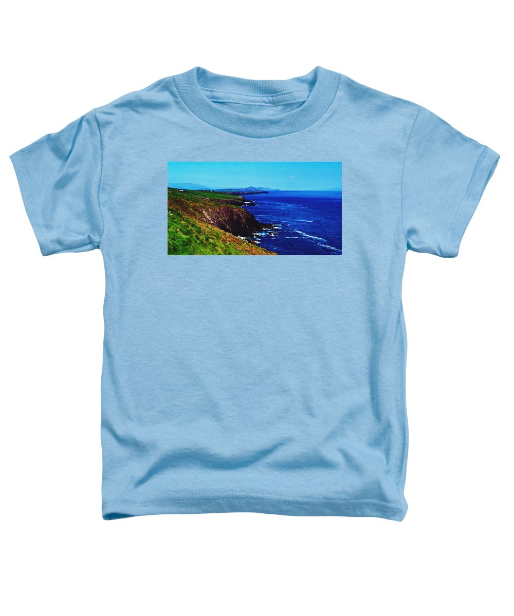 Irish Toddler T-Shirt featuring the digital art Dingle Coastline Near Fahan Ireland by Teresa Mucha
