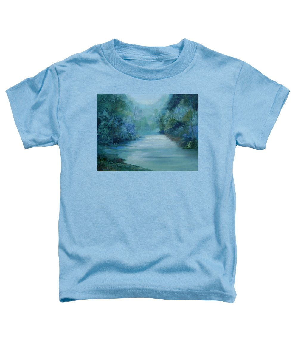 Burton River Georgia Toddler T-Shirt featuring the painting Dreamsome by Ginger Concepcion