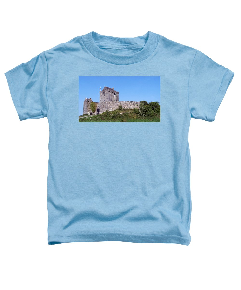 Irish Toddler T-Shirt featuring the photograph Dunguaire Castle Kinvara Ireland by Teresa Mucha