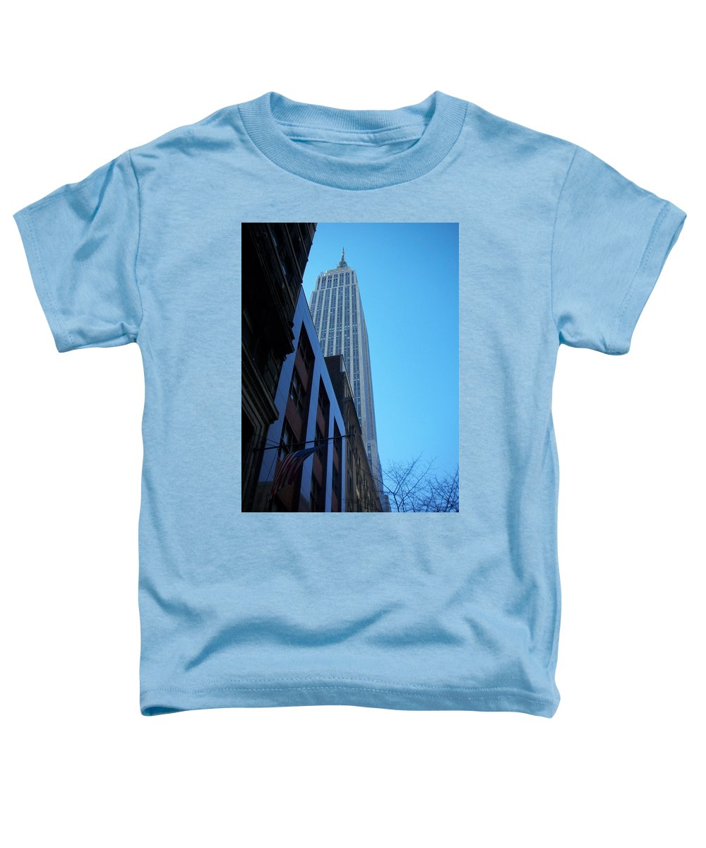 Emoire State Building Toddler T-Shirt featuring the photograph Empire State 1 by Anita Burgermeister