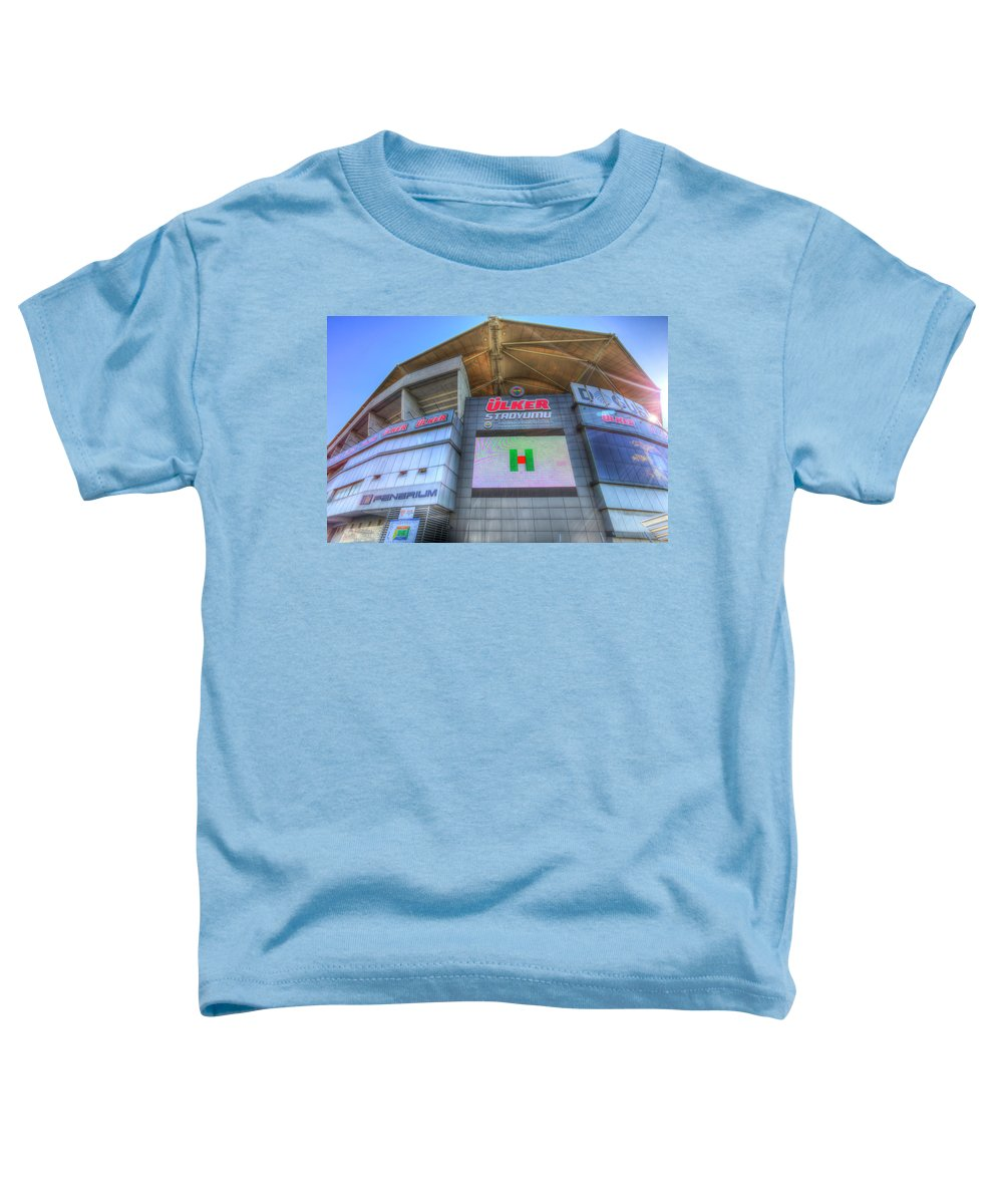 Fenerbahce Toddler T-Shirt featuring the photograph Fenerbahce Stadium by David Pyatt