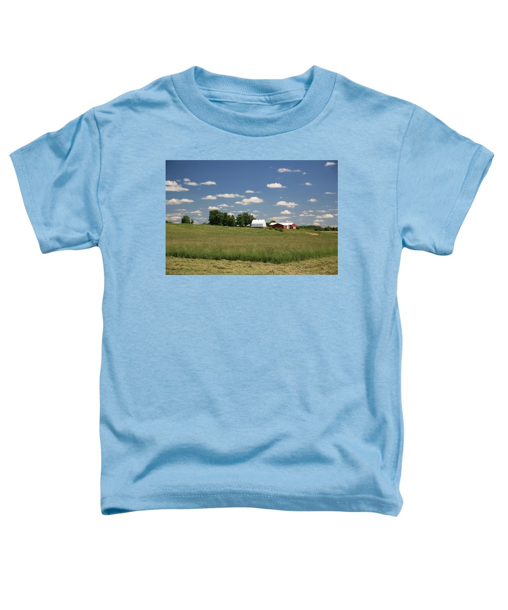 Farm Toddler T-Shirt featuring the photograph First Cutting by Robert Pearson