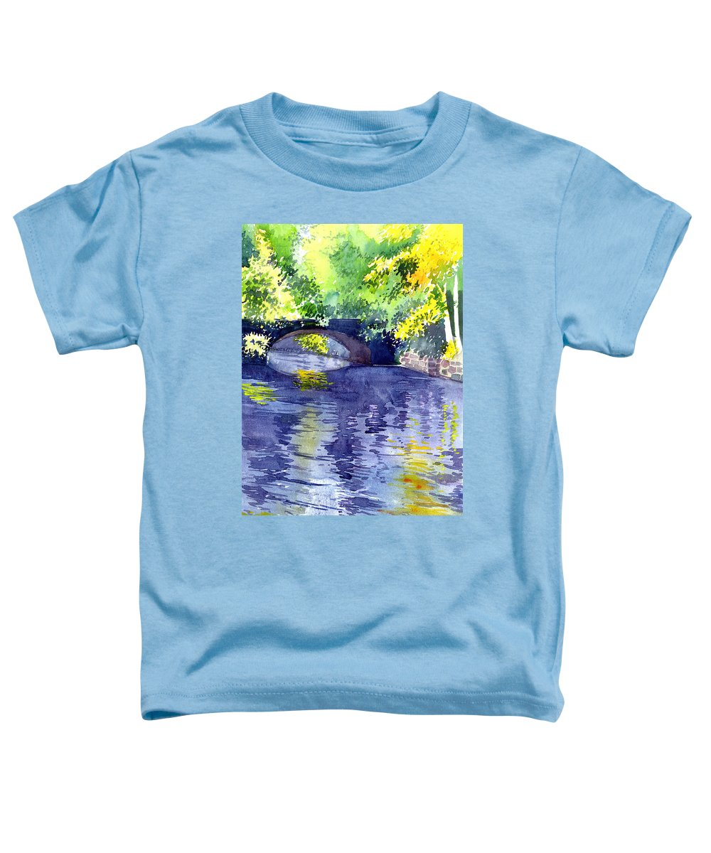 Nature Toddler T-Shirt featuring the painting Floods by Anil Nene