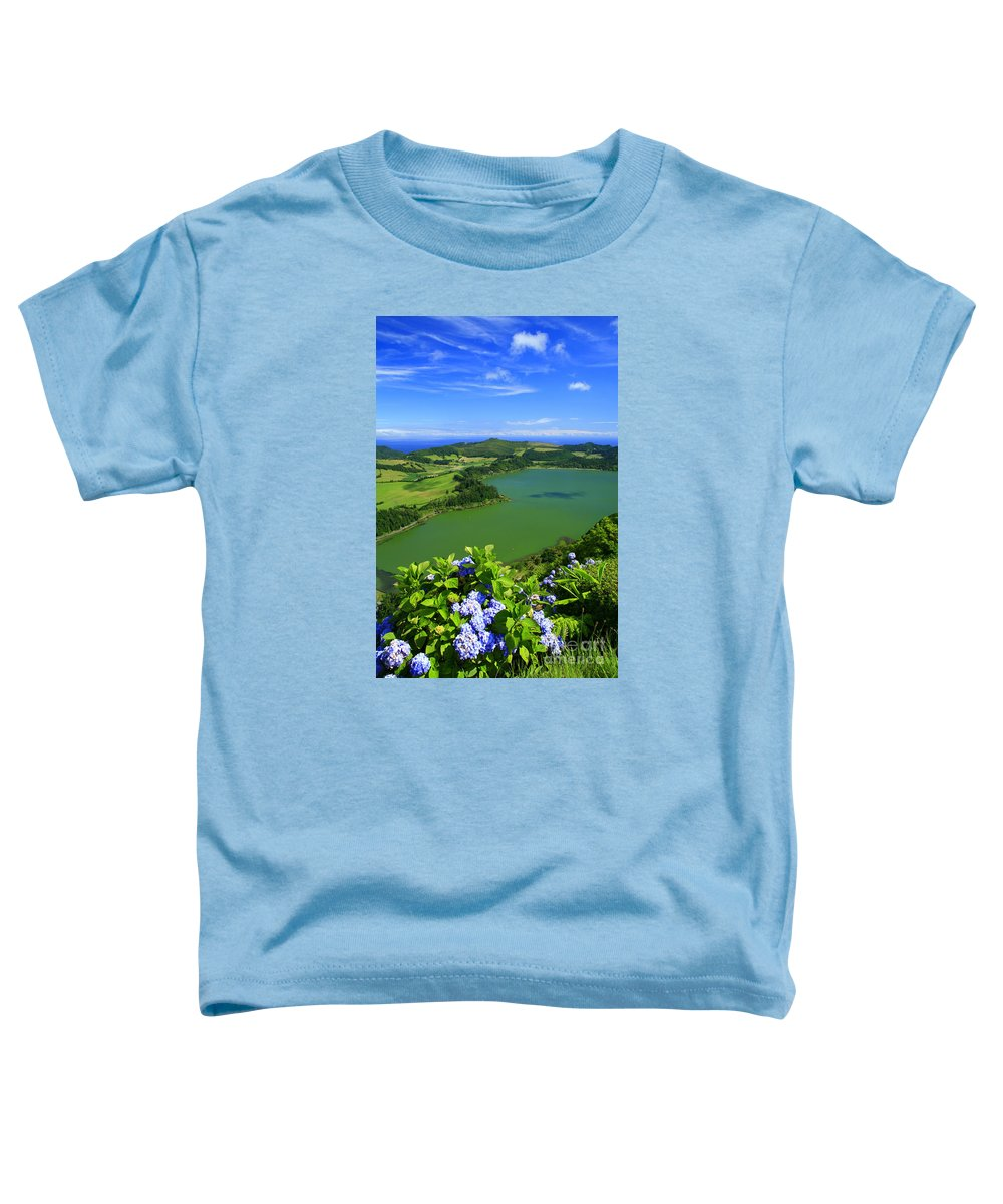 Azores Toddler T-Shirt featuring the photograph Furnas Lake by Gaspar Avila