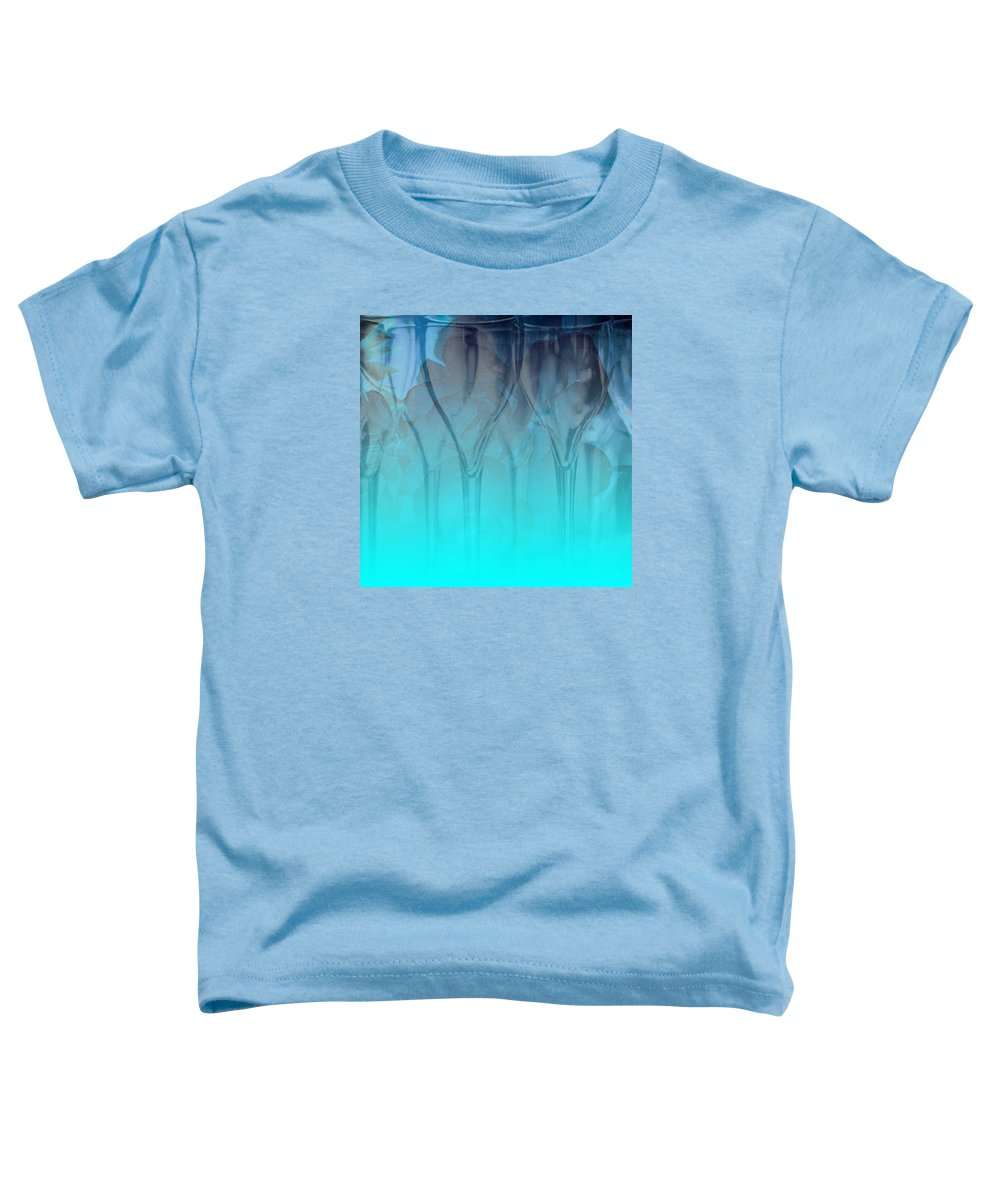 Glasses Toddler T-Shirt featuring the digital art Glasses Floating by Allison Ashton