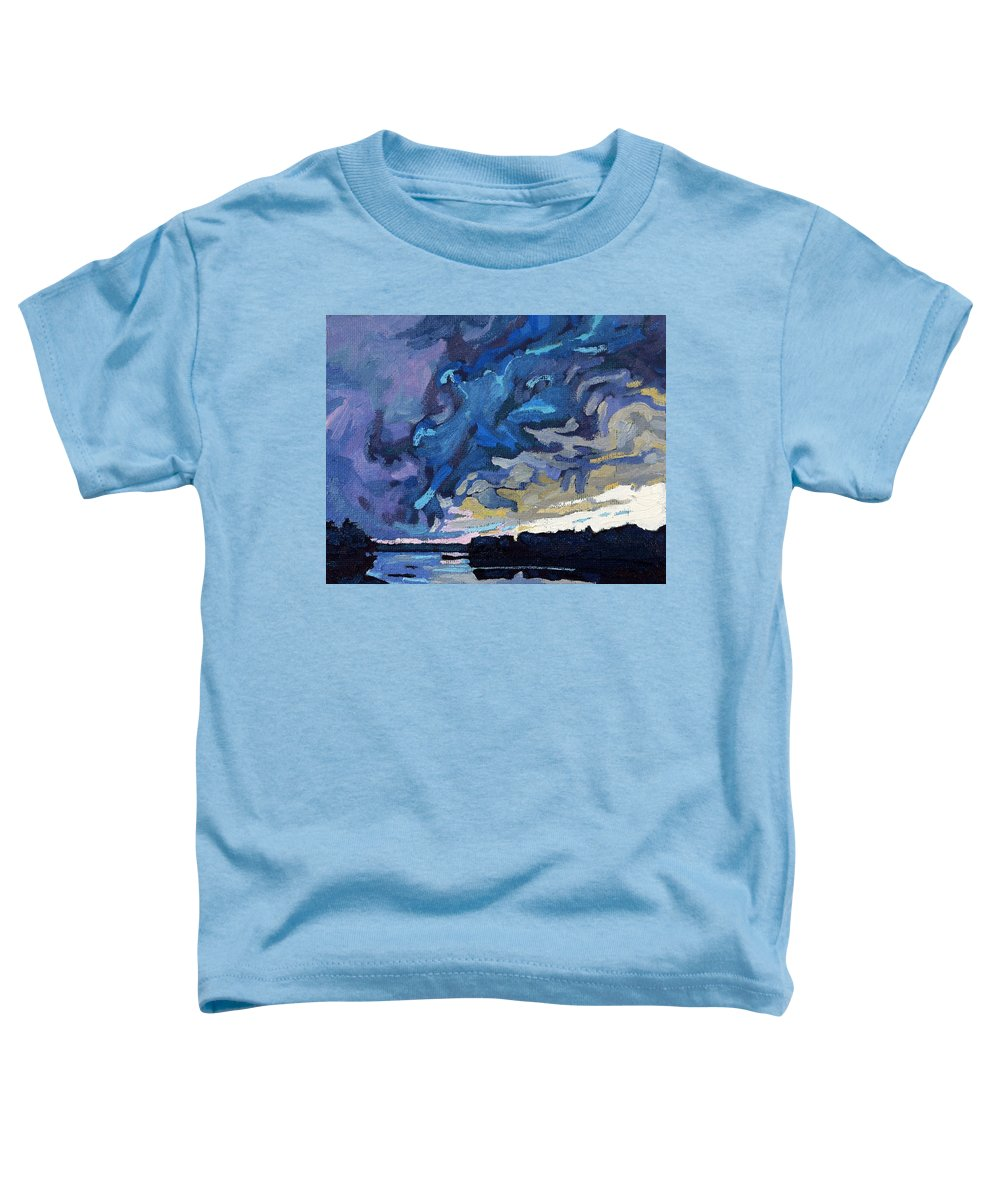 Shelf Toddler T-Shirt featuring the painting Gust Front by Phil Chadwick
