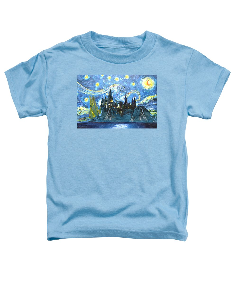 Harry Potter Art Toddler T-Shirt featuring the painting Harry Potter Starry Night by Midex Planet