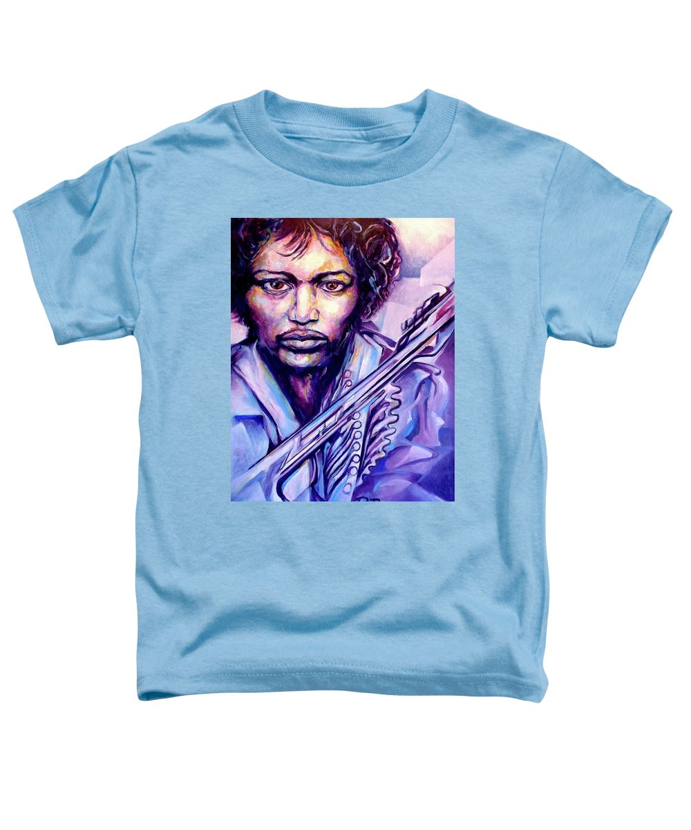 Toddler T-Shirt featuring the painting Jimi by Lloyd DeBerry