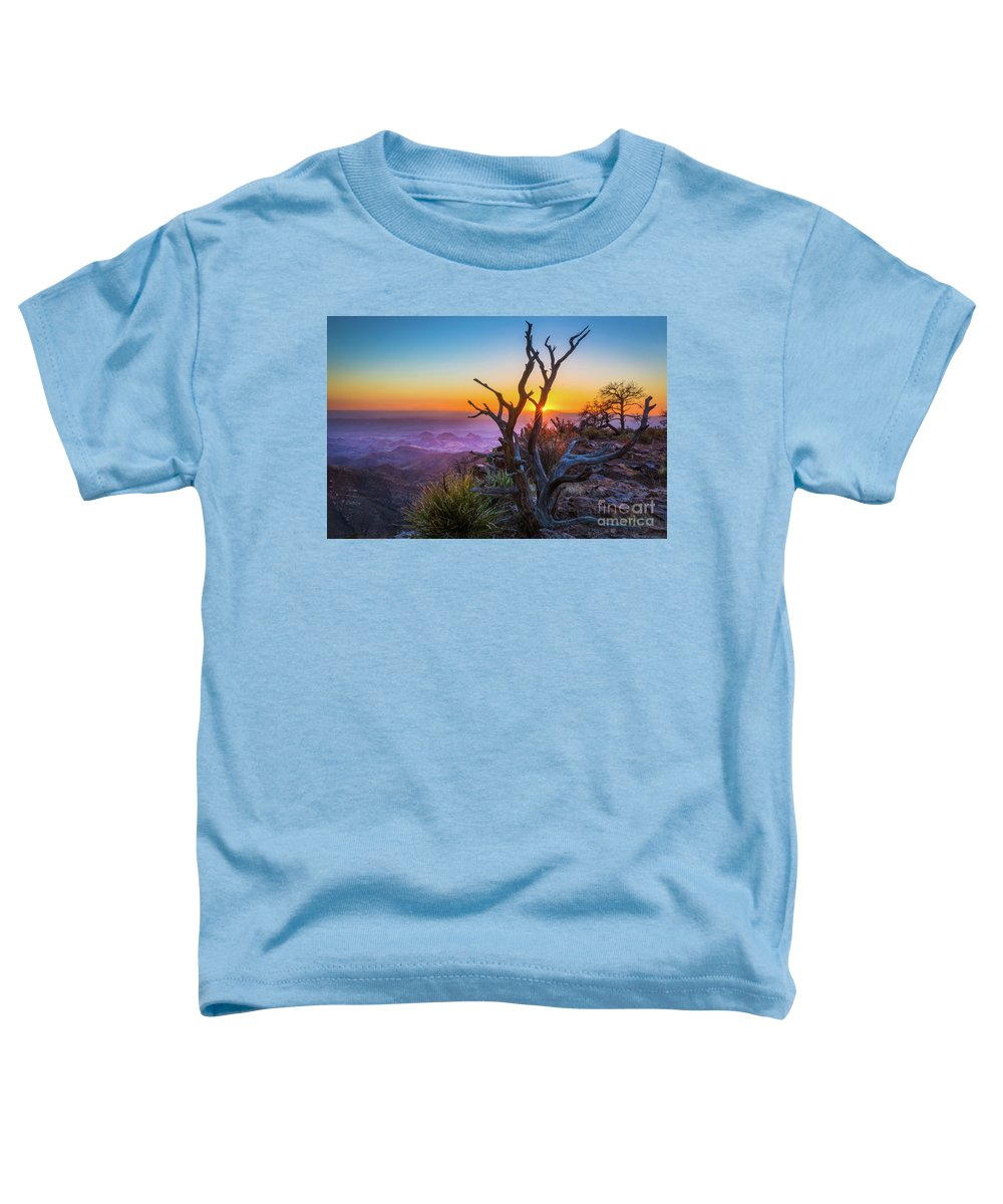 America Toddler T-Shirt featuring the photograph Last Light On The South Rim by Inge Johnsson