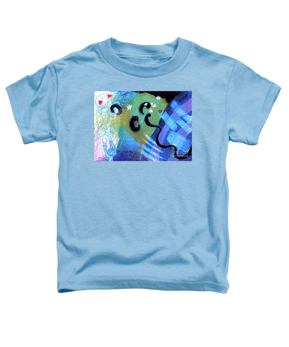 Light Toddler T-Shirt featuring the drawing Light 3 by Genevieve Esson