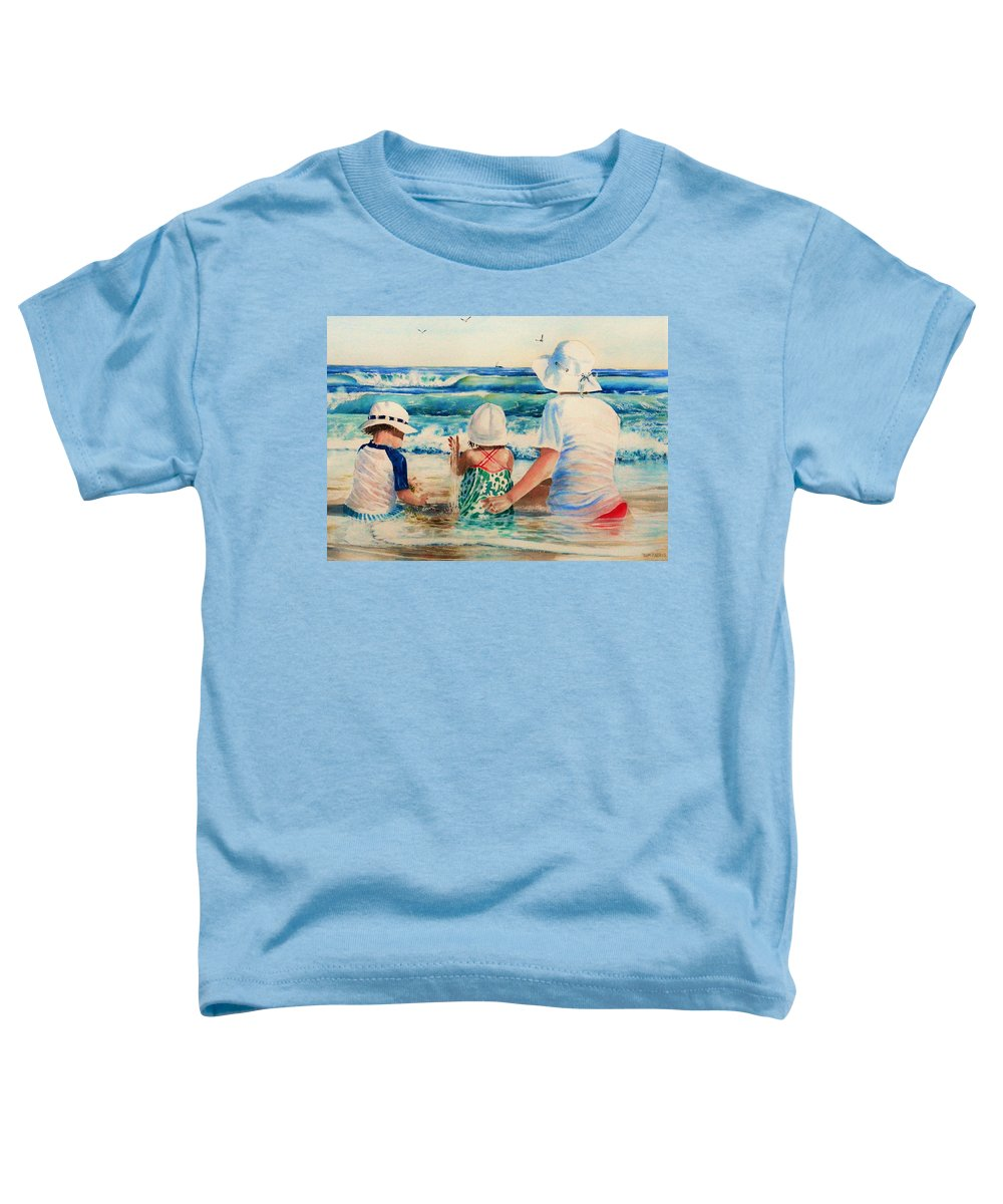 Beach Toddler T-Shirt featuring the painting Low Tide by Tom Harris