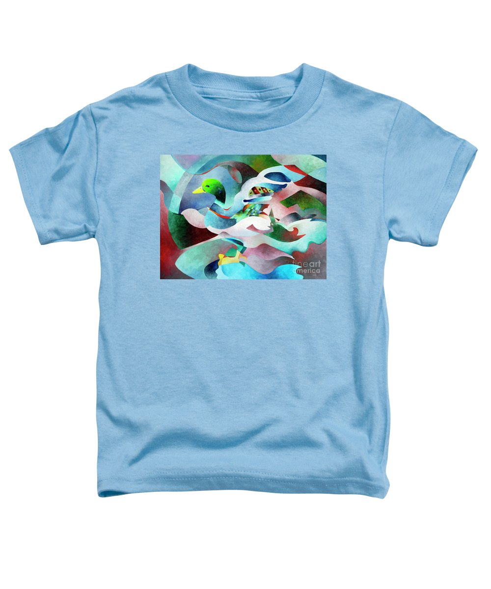 Duck Toddler T-Shirt featuring the painting Mallard by Sally Trace