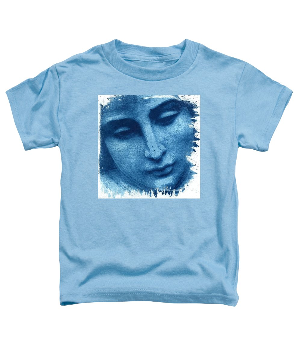 Blue Toddler T-Shirt featuring the photograph Marys Blues by Jane Linders